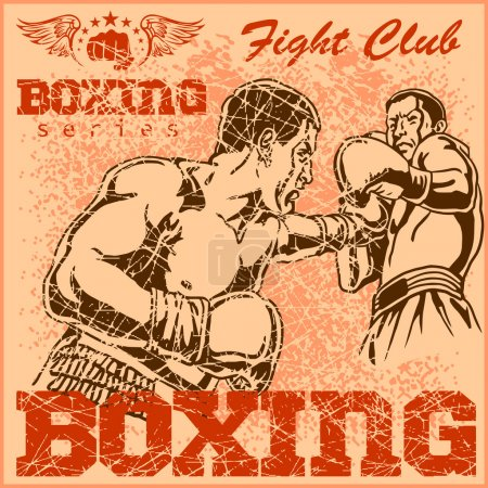 Vintage boxing poster