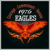 Vintage label Eagle - Retro emblem