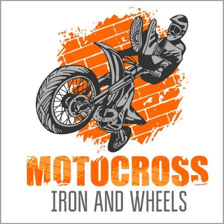 Motocross sport grunge poster