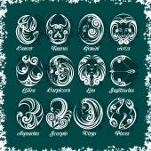 Zodiac signs and icons Vector illustration