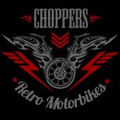 Retro motorcycle label, badge and design elements