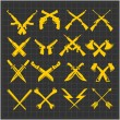 Постер, плакат: Crossed Weapons Vector Collection in dark background