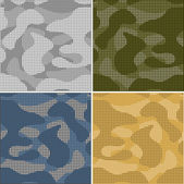 Digital camouflage seamless patterns - vector set