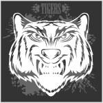 Постер, плакат: Tigers head in vintage style