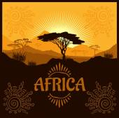Africa - vector poster