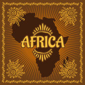 Africa - Ethnic poster Vector illustration