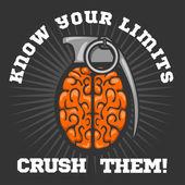 Psychological logo - Brain Grenade