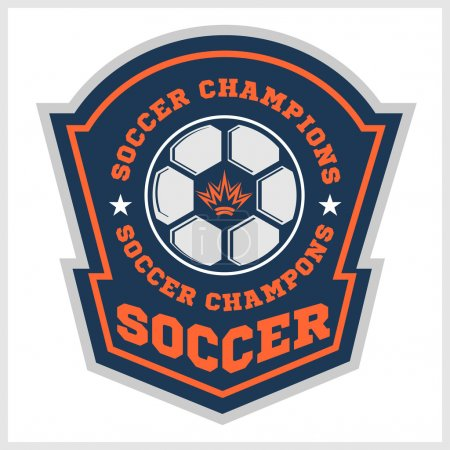 Vector Soccer Badge - emblem on light background.