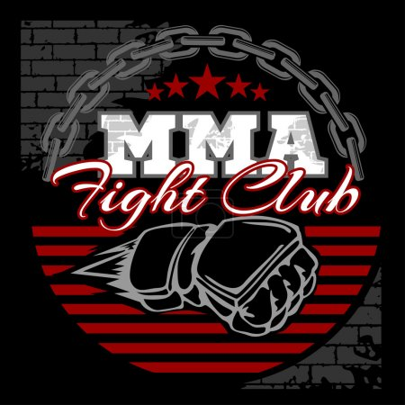 MMA mixed martial arts emblem badges