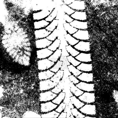 Background tire tracks