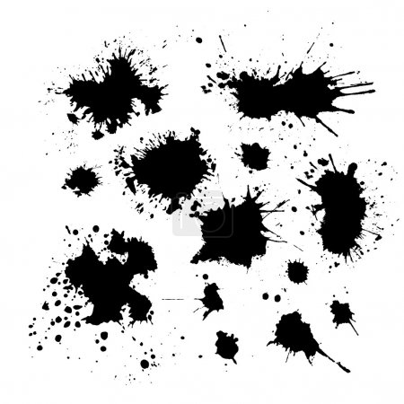 Illustration for Set of ink blots. Vector - Royalty Free Image