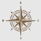 Vector Compass High Quality Illustration Old Style West East North South Wind Rose Simple  Isolated