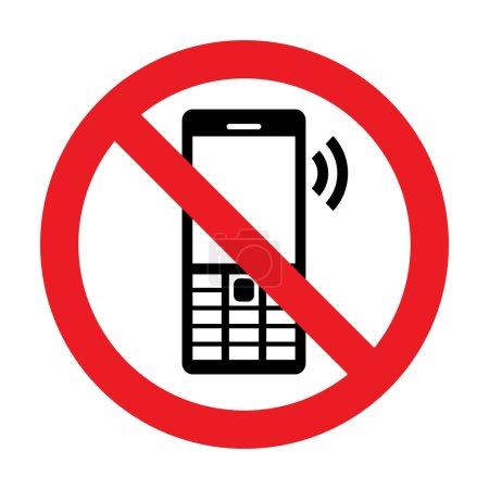 Aucun signe de vecteur de téléphone portable