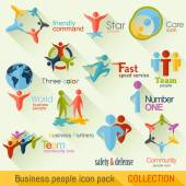 Flat Business People Logo Collection Corporate Identity