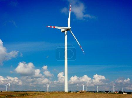 Wind Generators on blue sky