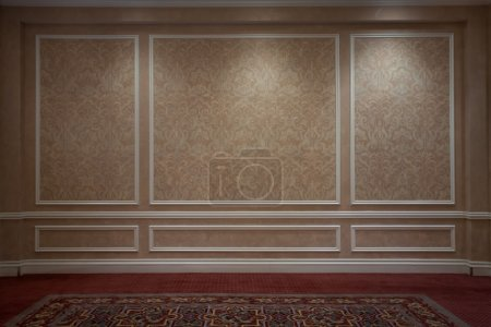 Photo for Fragment of interior. wall papered wall  and carpet - Royalty Free Image