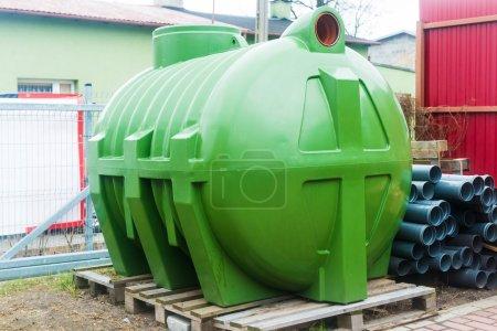 huge septic tank