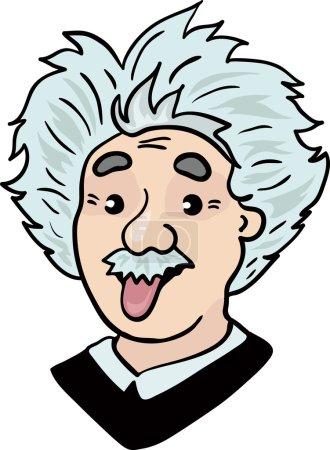 Альберт Эйнштейн портрет с языком