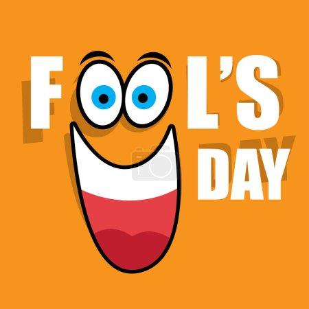 Illustration for Vector illustration Celebrating laughter Day inscription background - Royalty Free Image
