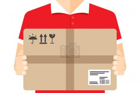 Delivery courier, background