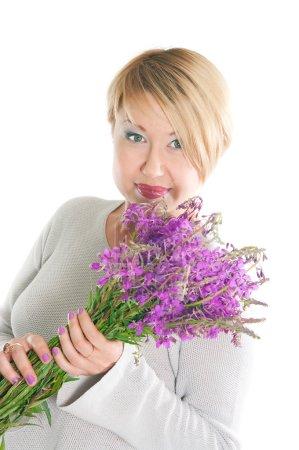 Photo pour Image de la femme positive des années moyennes - image libre de droit