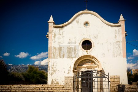 Photo for White church against blue sky in Croatia - Royalty Free Image
