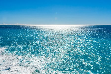 View of beautiful Mediterranean landscape, sea and sunny sky.
