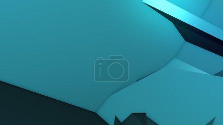 Photo pour Illustration 3D, composition abstraite colorée réalisée à partir d'énormes objets tridimensionnels - image libre de droit