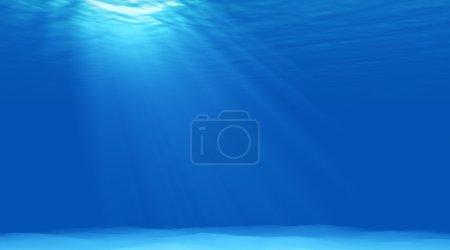 beautiful scene light underwater