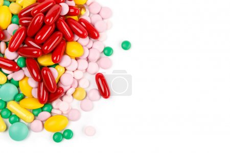Lot of colorful drugs