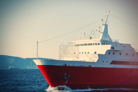 big liner on the sea
