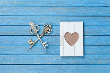 Two keys and photo frame