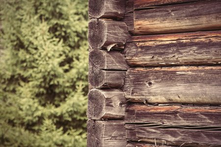 Wooden house wall