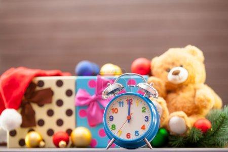 Alarm clock on christmas