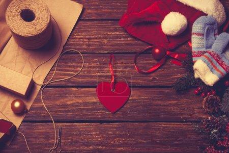 Little red heart shape toy