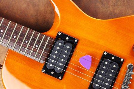 violet guitar pick