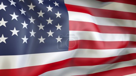 Photo for United State of America flag waving in the wind - Royalty Free Image