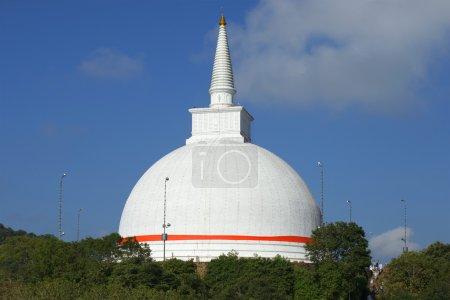 Mahaseya Dagoba in Mihintale, sunny day. Sri Lanka