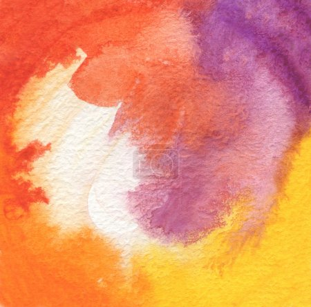 Photo for Abstract acrylic and watercolor brush strokes painted background. - Royalty Free Image