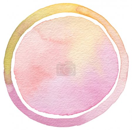 Photo for Abstract acrylic and watercolor circle painted background. Texture paper. Isolated. - Royalty Free Image