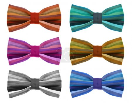 Bow tie with color rainbow strip.