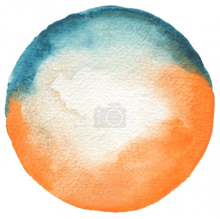 Photo for Circle watercolor painted background. Texture paper. - Royalty Free Image