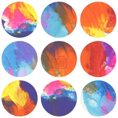 Photo pour Cercle abstrait acrylique et aquarelle peint fond. Isolé . - image libre de droit