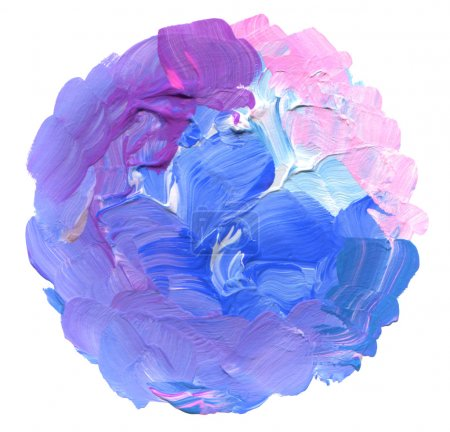Photo for Abstract circle acrylic and watercolor painted background. - Royalty Free Image