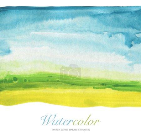 Acuarela abstracta pintada a mano fondo paisaje. Texturizado