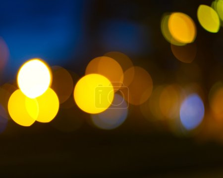 Photo for Abstract city lights blur blinking background. Soft focus. - Royalty Free Image