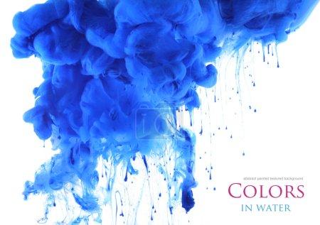 Foto de Colores acrílicos en agua. Abstact. - Imagen libre de derechos