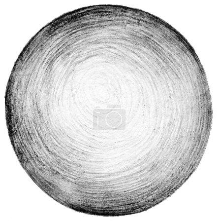 Photo pour Texture d'arrière-plan abstraite cercle crayon dessins à main levée. - image libre de droit