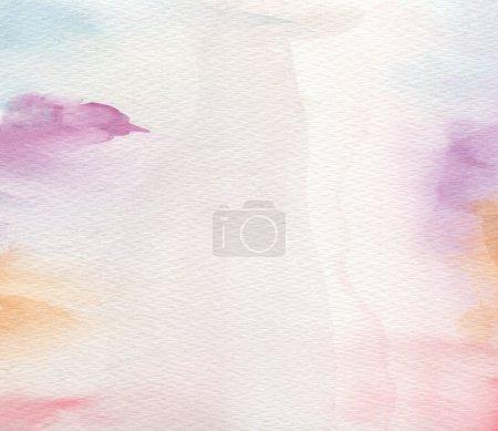Photo pour Abstrait acrylique et aquarelle peint fond. Papier texturé  . - image libre de droit
