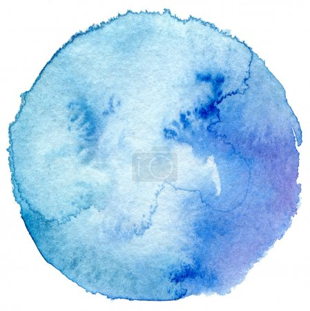 Photo pour Cercle aquarelle peint fond. Texture du papier . - image libre de droit